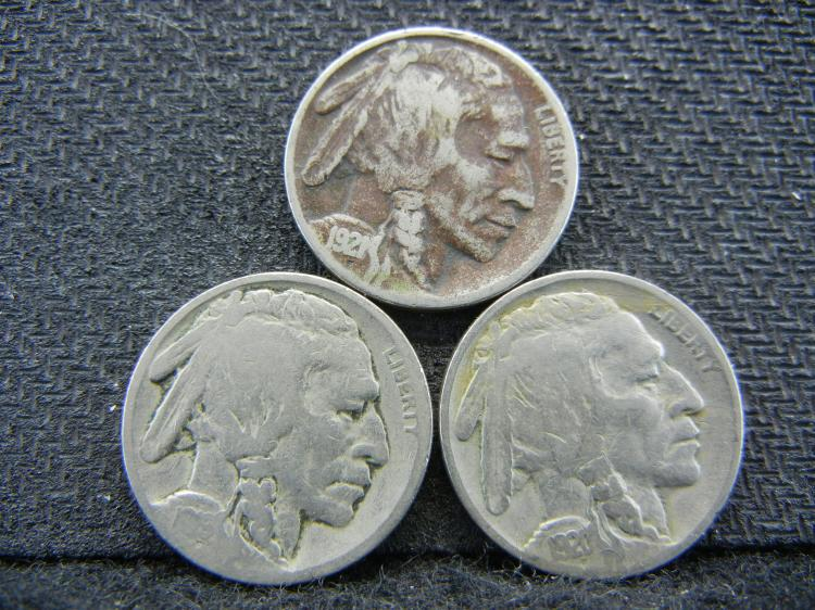 1919 1920 1921 buffalo nickels.