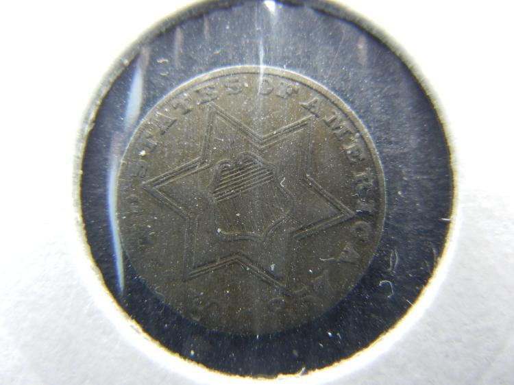 1857 U.S. Silver 3 Cent Piece