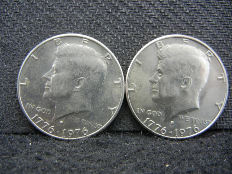 1776-1976-D Kennedy Half Dollars