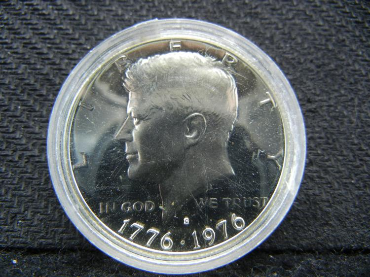 1776-1976-S 40% SILVER Kennedy Half Dollar - Proof - Encase