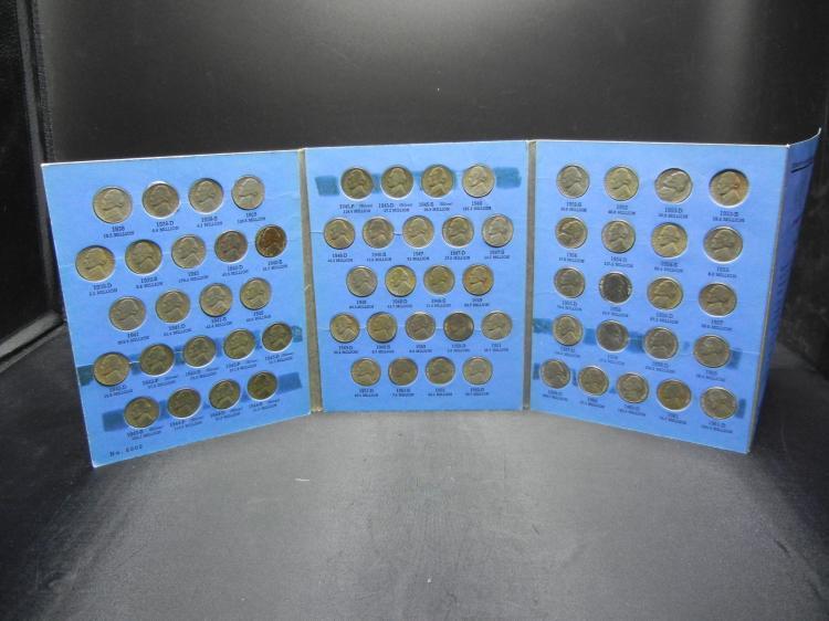 Jefferson Nickel set 1938-1961. Includes all key dates.