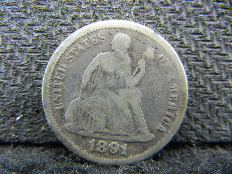 1891 Seating Liberty Dime - SILVER