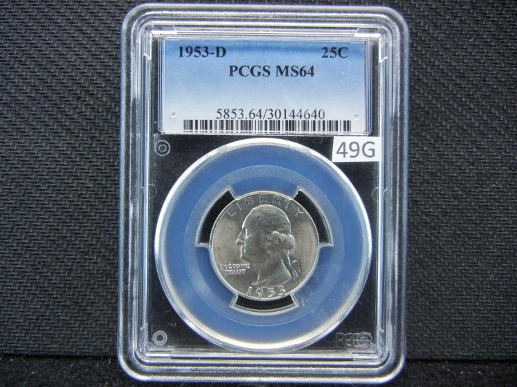 1953-D PCGS MS64 Washington Quarter - SILVER