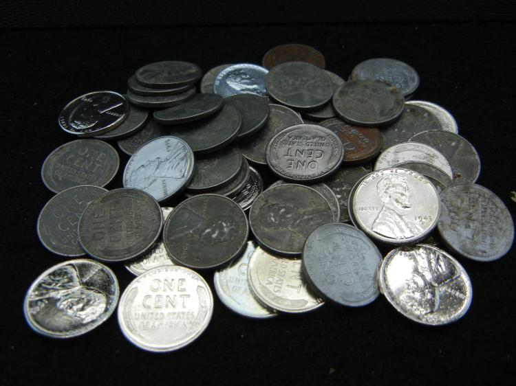 Roll of 50-1943 Steel Cents,