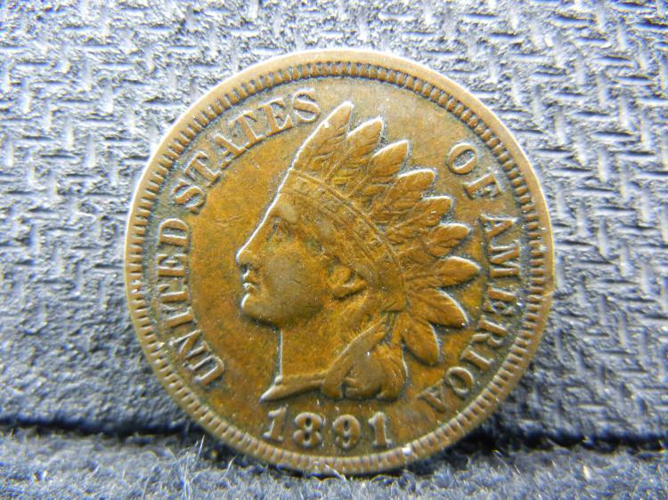 1891 Indian Head Cent - Full Liberty