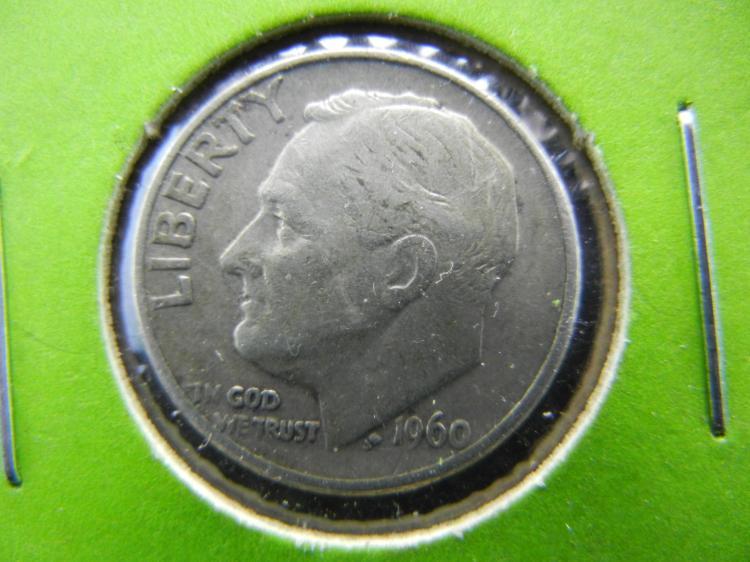 1960-D Roosevelt Dime - 90% Silver