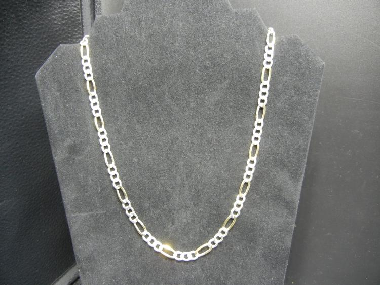 Sterling Silver Necklace w/Gold Accents