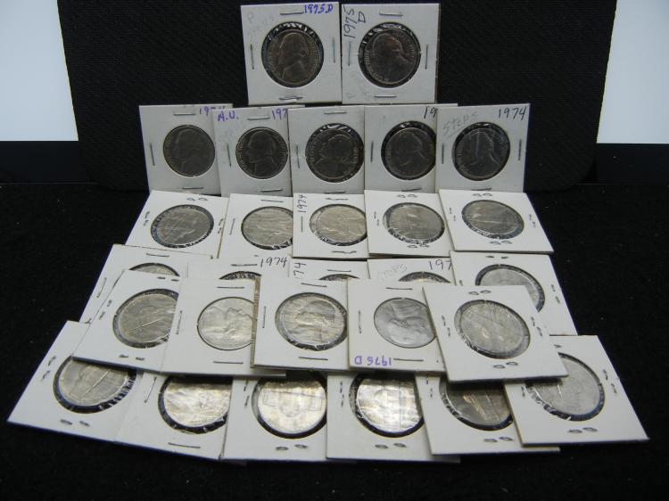 (28) 1970s Jefferson Nickels