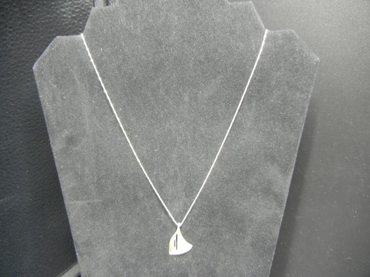 Sterling Silver Necklace w/Sailboat Pendant