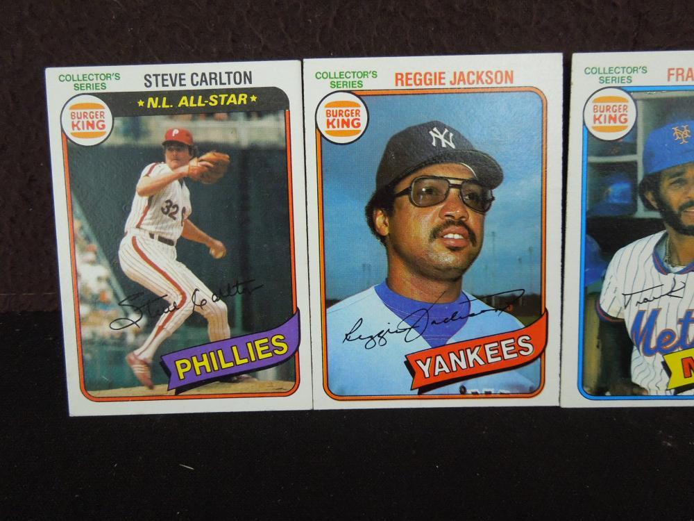 5 Burger King Collectors Cards