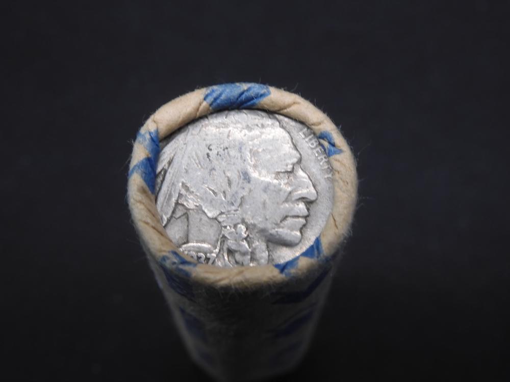 Roll of Buffalo Nickels, Full Date 1937 -P