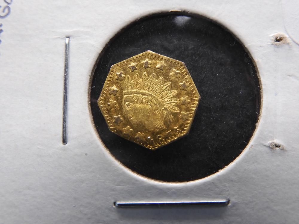 1875 California Gold Token PL ?