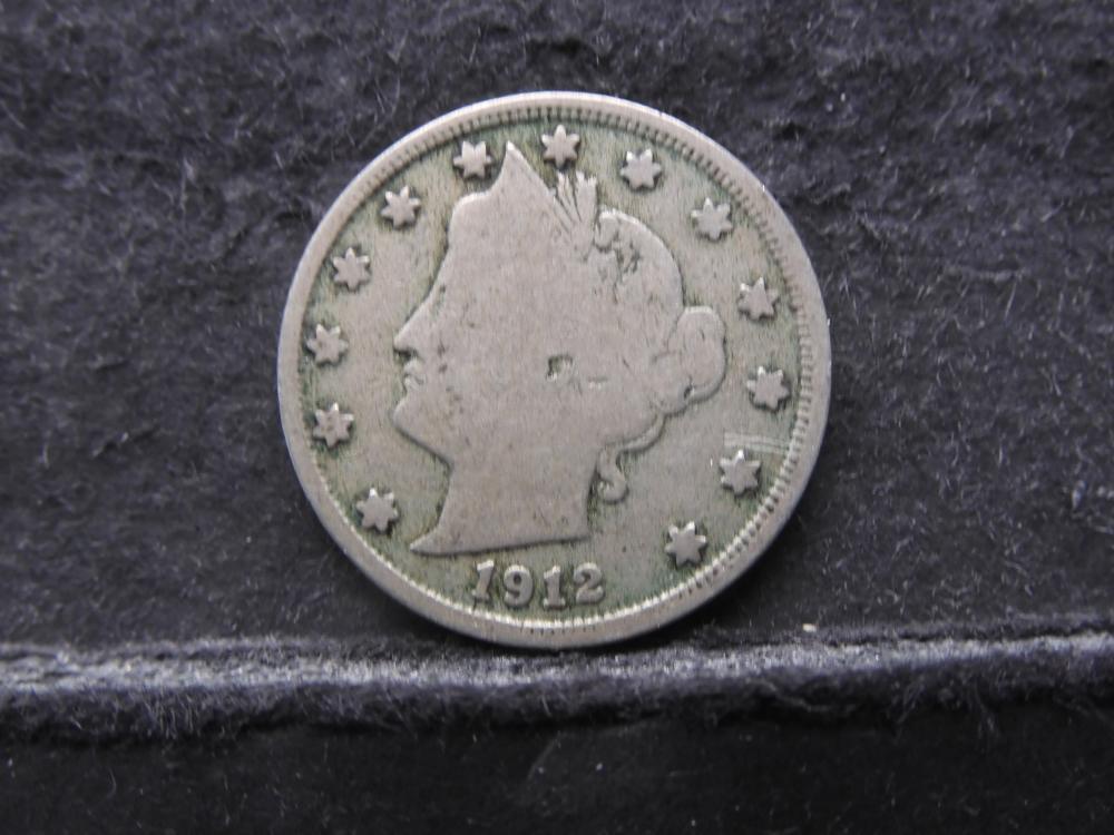 1912-S V Nickel Liberty Visible Key Date