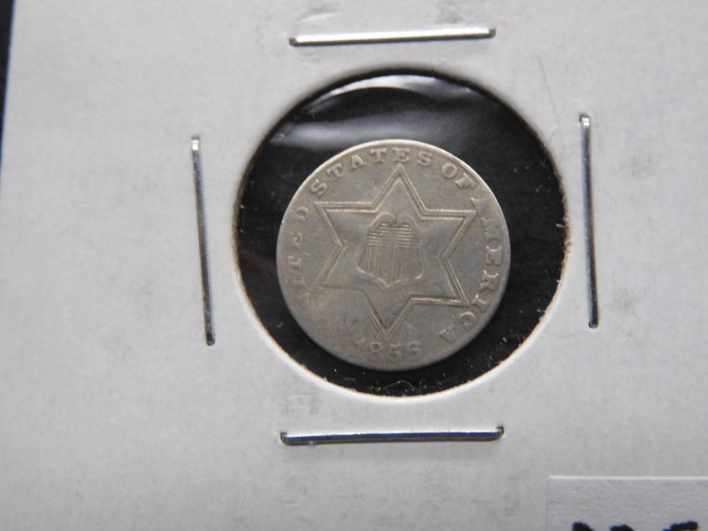 1856 Three Cent Silver Type 3 Mint Error Dye Cast??