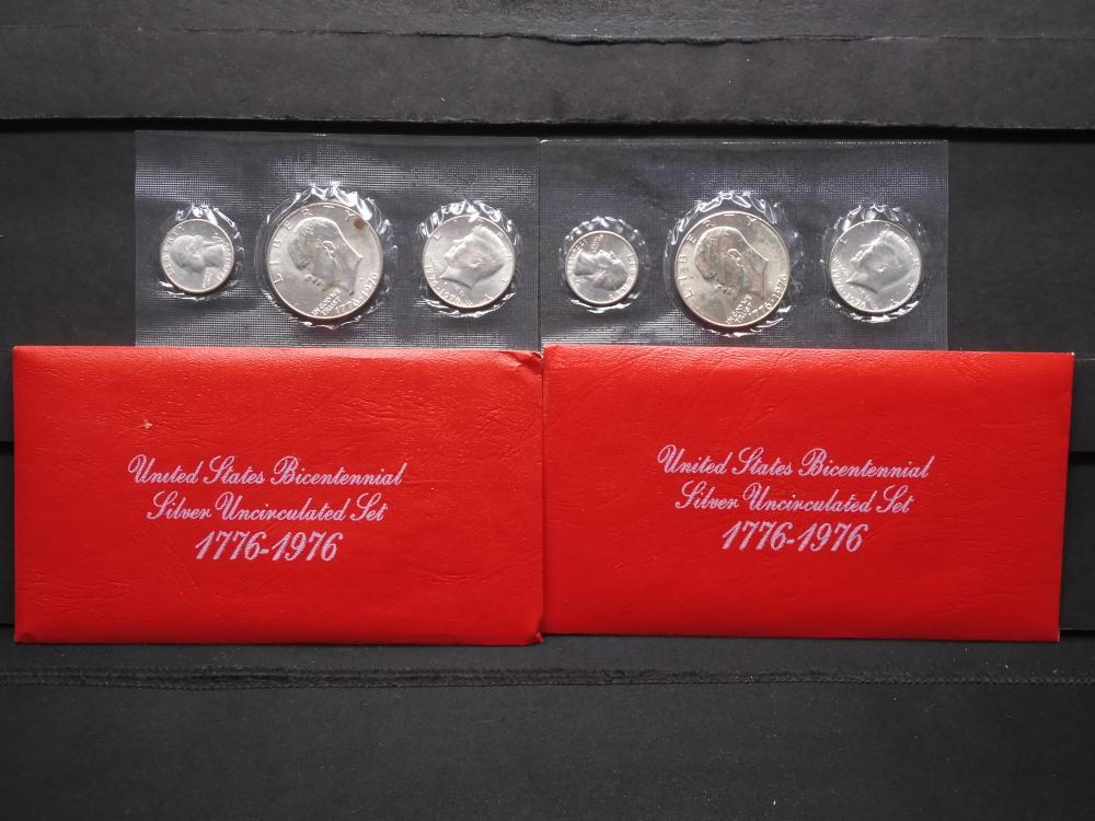 (2) 1975-S United States Bicentennial Silver Uncirculated Sets