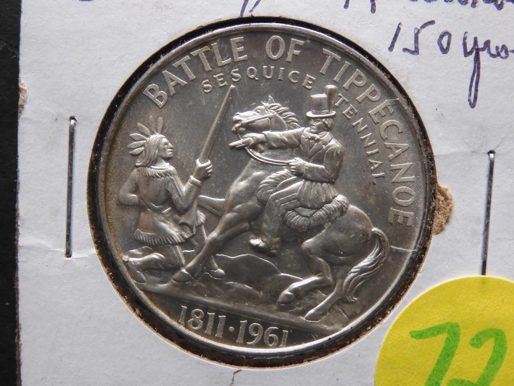 Battle of Tippecanoe 150 Years Silver Coin