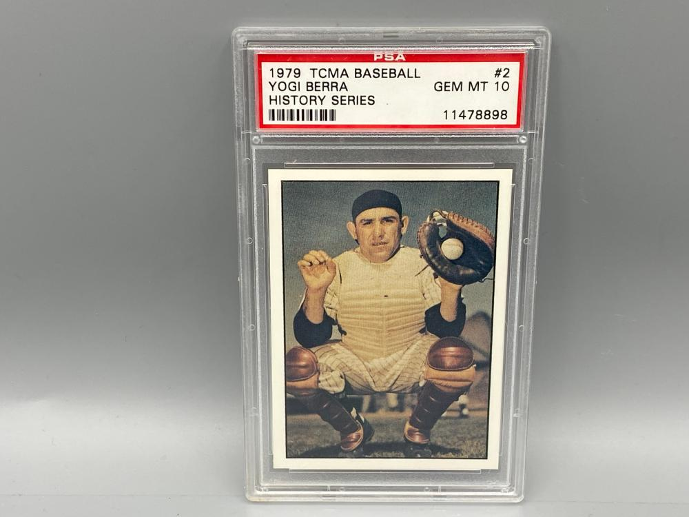 1979 TCMA Baseball #2 Yogi Berra History Series PSA Gem Mint 10