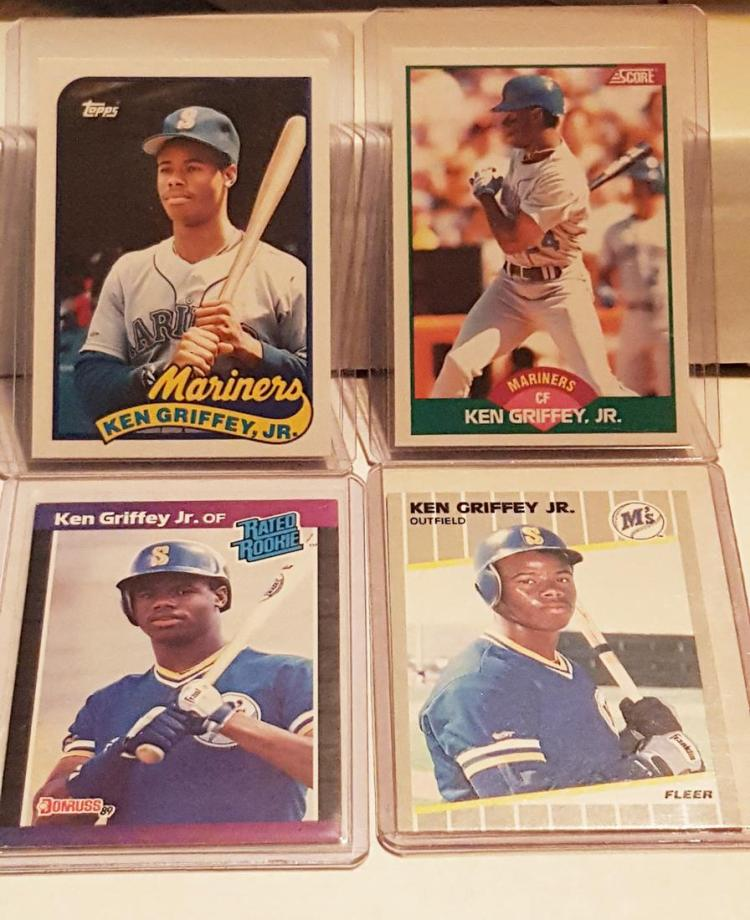 Lot Of 5 Rookie Baseball Cards With Ken Griffey Jr 1989: Lot Of (4) Ken Griffey Jr. Rookie Cards