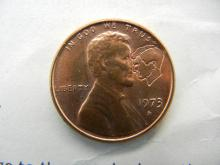 "Lot 3K: 1973-D Lincoln Cent, Lincoln-Kennedy ""Astonishing Coincidences"" Assassination Facts."
