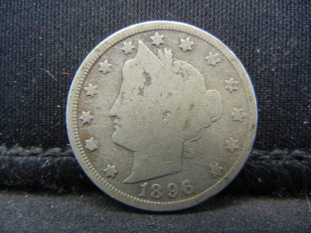 Lot 1N: 1896 V-Nickel.