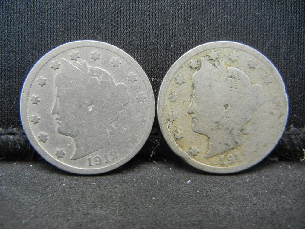 1912 PD V-Nickels.