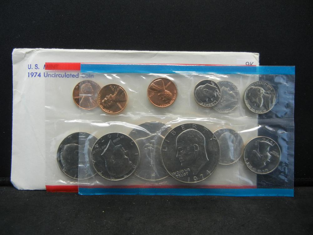 1974 United States 13 Coin Mint Set With Original Packaging.