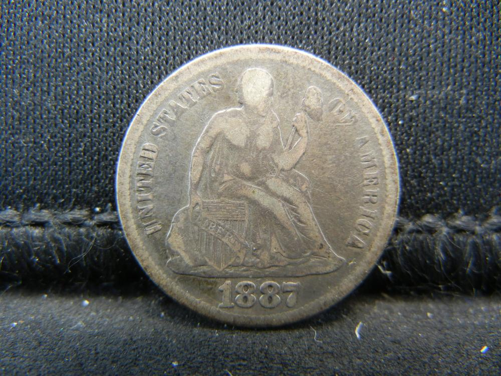 1887 Seated Liberty Dime.