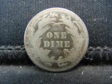 Lot 10K: 1887 Seated Liberty Dime.