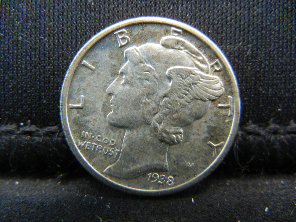 1938-D Mercury Dime, High Grade.