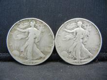 Lot 15K: 1940 PS Walking Liberty Half Dollars.