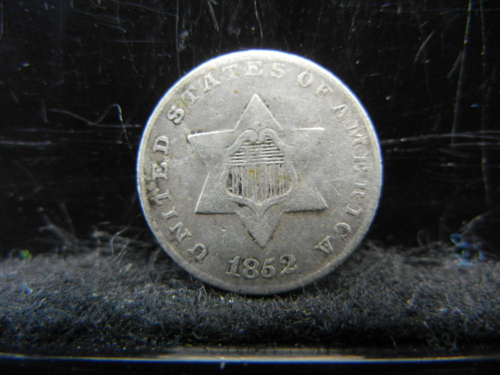 1852 Three Cent Silver.