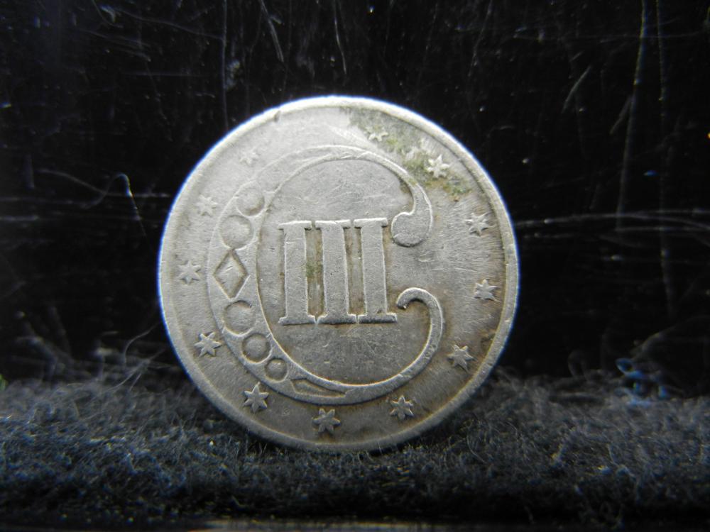 Lot 17K: 1852 Three Cent Silver.