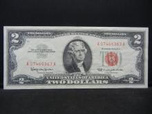 Lot 24K: 1963 $2 Red Seal United States Note. Serial # A07466363A. Nice Crisp Uncirculated.