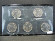 Lot 21K: 2009 United States State Quarter Mint Set in Cellophane. DE PA NJ GA CT.