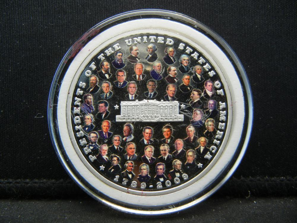 2009 Presidents of the United States Commemorative Medal.