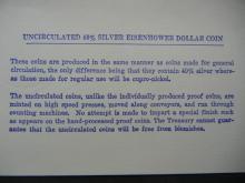 "Lot 31K: 1971-S Eisenhower ""Blue Pack"" 40% Silver Dollar With COA."