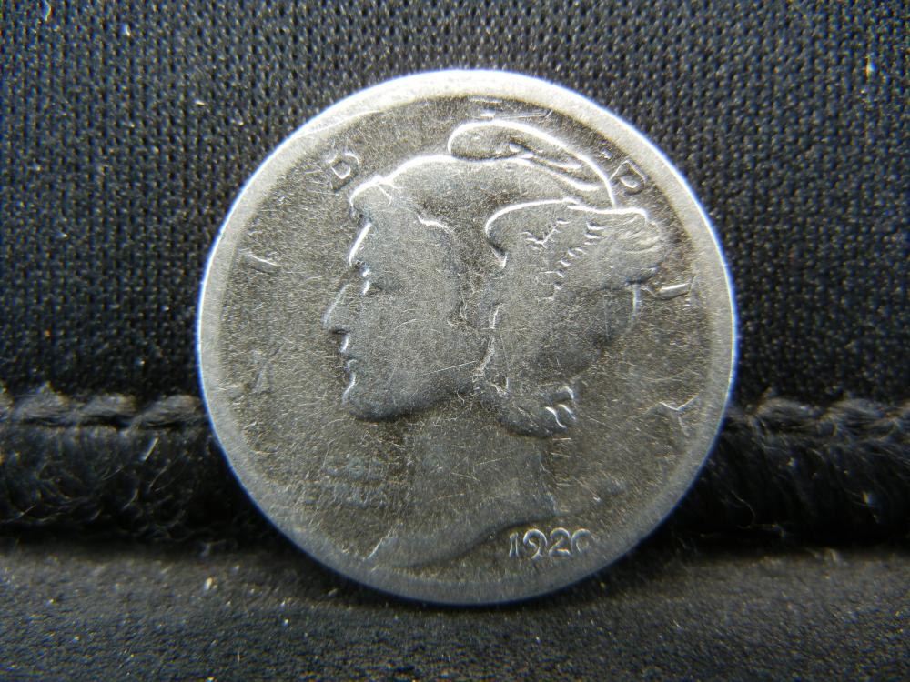 Lot 35K: 1920-D Mercury Head Dime.