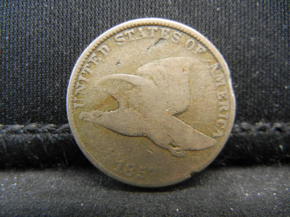 Lot 36K: 1857 Flying Eagle Cent.