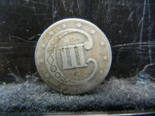 Lot 37K: United States Three Cent Silver Piece.