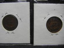 Lot 38K: Sheet of 20 Indian Head Cents From Coin Collection, Dated From 1891 to 1907.