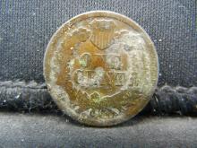 Lot 39K: 1867 Indian Head Cent, Key Date.