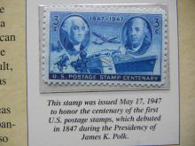 Lot 40K: James K Polk Historical Presentation Coin and Stamp Set Issued by the Postal Commemorative Society.