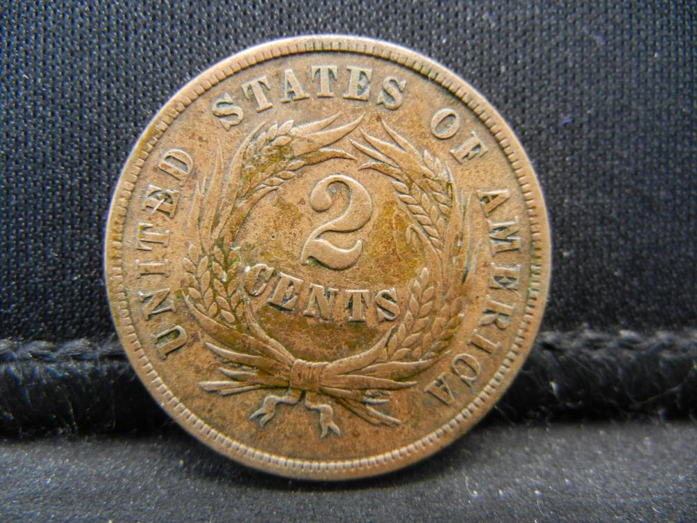 """Lot 41K: 1865 Two Cent Piece, Fully Readable """"WE""""."""