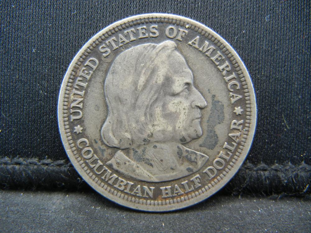 Lot 49K: 1893 World Columbian Exposition Commemorative Half Dollar.