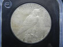 Lot 50K: 1925 Uncirculated Peace Silver Dollar Graded By PCS Stamps & Coins.