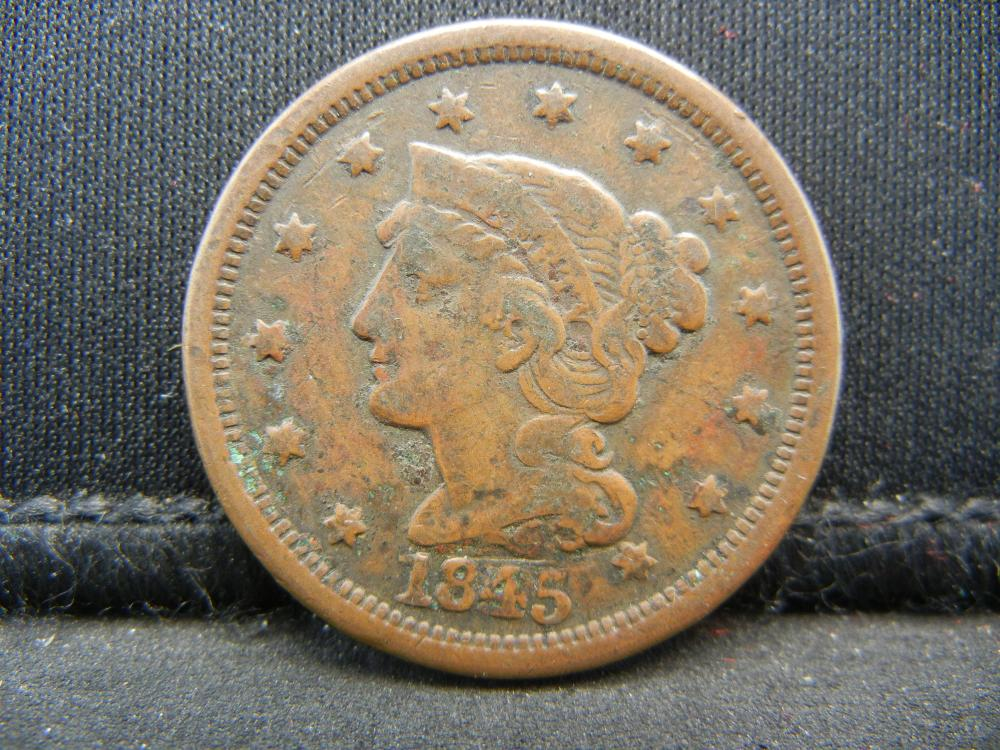 Lot 2N: 1845 Large Cent.