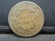 Lot 12N: 1835 United States Half Cent, Fine.