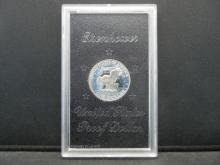 Lot 14N: 1971-S Eisenhower 40% Silver Proof Silver Dollar With Original Brown Box Packaging.