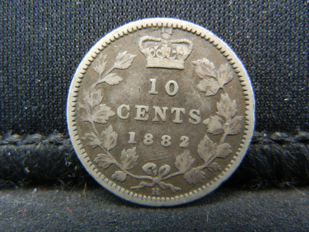 1882-H Canada Sterling Silver Ten Cents
