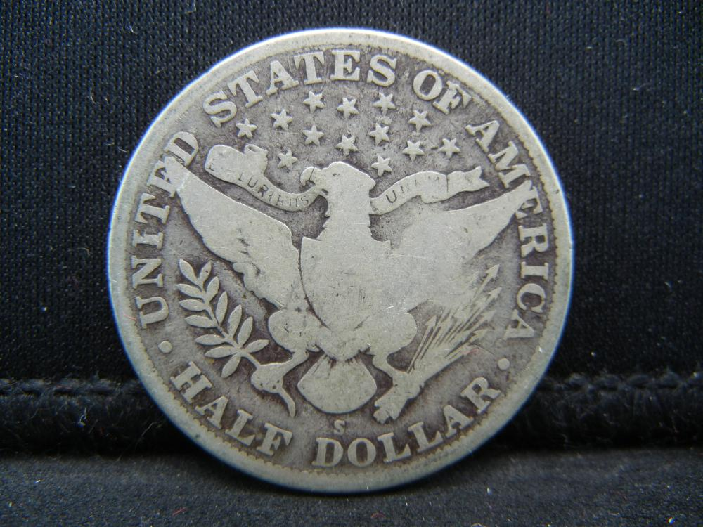 Lot 10B: 1915-S Barber Half Dollar